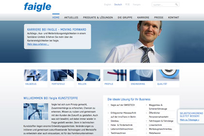 Faigle Kunstoffe Website